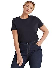Plus Size Stretch Cotton T-Shirt