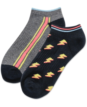 Women's 2-Pk. Lightning Bolt Low-Cut Socks