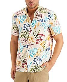 Men's Talinado Leaf-Print Shirt, Created for Macy's