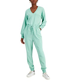 Cotton Belted Jogger Jumpsuit, Created for Macy's