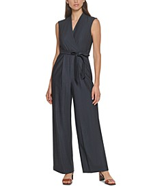 Belted Chambray Jumpsuit