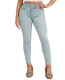 Braided-Waist Skinny Jeans