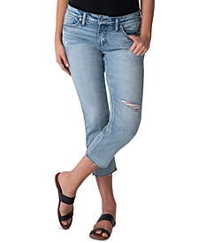 Distressed Elyse Cropped Jeans