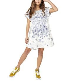 Pinwheel Open-Back Mini Dress