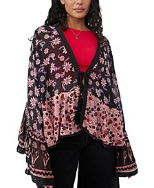 Lola Placed Print Kimono