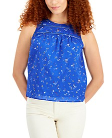 Cotton Lace-Trim Tank Top, Created for Macy's