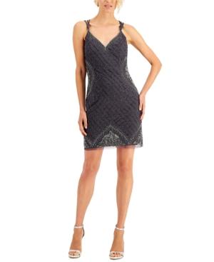 Embellished Cross-Back Dress