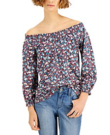 Floral-Print Peasant Top, Created for Macy's