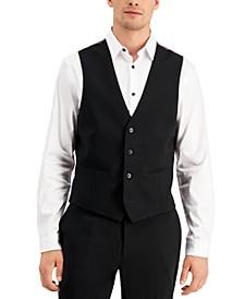 Men's Slim-Fit Black Solid Suit Vest, Created for Macy's