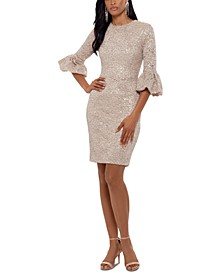 Petite Sequined Lace Sheath Dress
