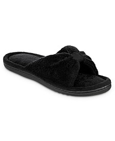 Isotoner Women's Microterry Bow Slide Slippers