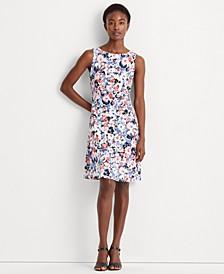 Floral Sleeveless Jersey Dress