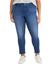 Plus Size Mid Rise Skinny Jeans, Created for Macy's