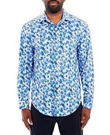 Men's Paisley Long Sleeve Button Up Shirt