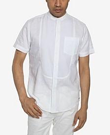 Men's Contrast Tuxedo Linen Shirt