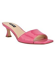 Women's Indra Square Toe Low Heel Slide Sandals