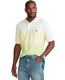 Men's Big & Tall Dip-Dyed Mesh Polo Shirt
