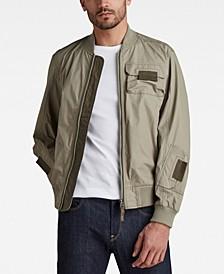 Men's Chest Pockets Poplin Bomber Jacket