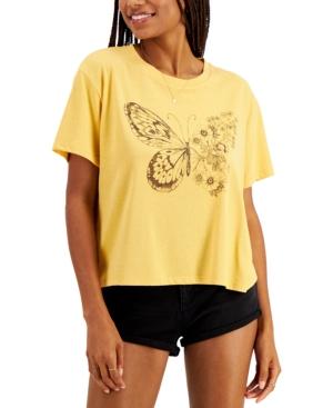 Juniors' Butterfly T-Shirt