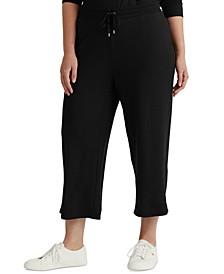 Plus-Size Cropped Wide-Leg Sweatpants