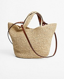 Women's Raffia Shopper Bag