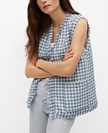 Women's Tweed Pocket Vest