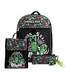 Kids Minecraft 6 Piece Backpack Set