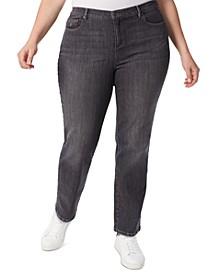 Plus Size Amanda High-Rise Straight-Leg Jeans
