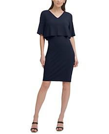 Cape Overlay Dress