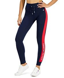 Women's Logo-Stripe High-Rise Full-Length Leggings