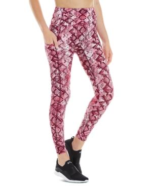 Women's Python-Print Double-Pocket 7/8 Leggings