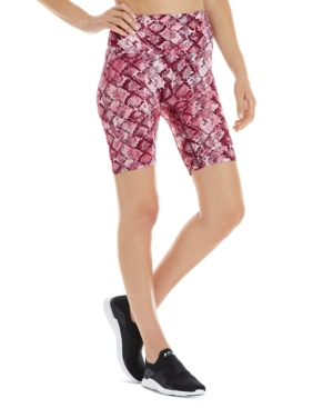 Women's Python-Print Bike Shorts