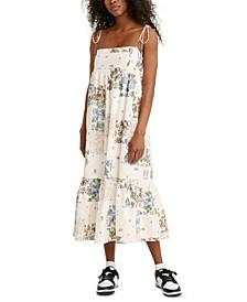 Rowen Cotton Floral-Print Midi Dress