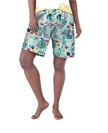 Plus Size Sea Life Pajama Bermuda