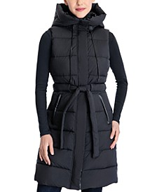 Hooded Belted Vest