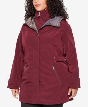 Plus Size Hooded Raincoat