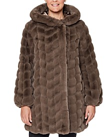 Hooded Faux-Fur Coat, Created for Macy's