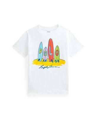 폴로 랄프로렌 남아용 반팔티 Polo Ralph Lauren Toddler Boys Jersey Graphic Tee,White