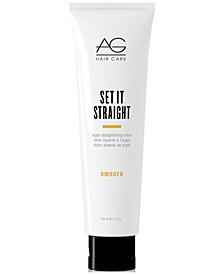 Smooth Set It Straight Argan Straightening Lotion, 5-oz., from PUREBEAUTY Salon & Spa