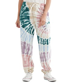 Chill At Home Tie-Dye Cotton Joggers