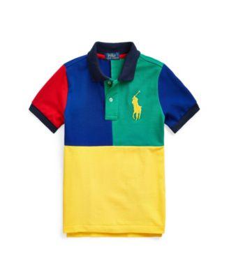 폴로 랄프로렌 남아용 폴로셔츠 Polo Ralph Lauren Toddler Boys Color-Blocked Mesh Polo Shirt