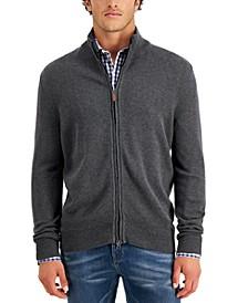 Men's Regular-Fit Full-Zip Cardigan, Created for Macy's