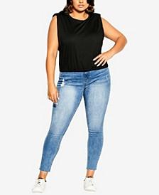 Plus Size Bold Shoulder Top