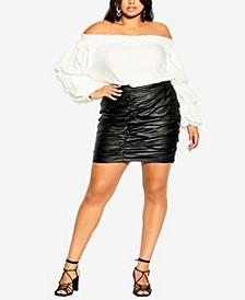 Plus Size Mini Dare Skirt