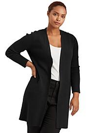 Plus-Size Cotton-Blend Cardigan