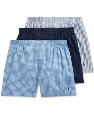 폴로 랄프로렌 Polo Ralph Lauren Mens Tag Free Boxers - 3-Pack,Navy/Rimini/Muller