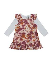 Baby Girls 2-Piece Tie Dye Ruffle Jumper with Onesie Set