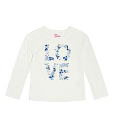 Little Girls Long Sleeve Love Graphic T-shirt