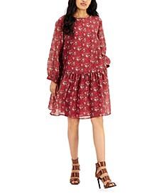 Abatina Floral Print Flounce Dress