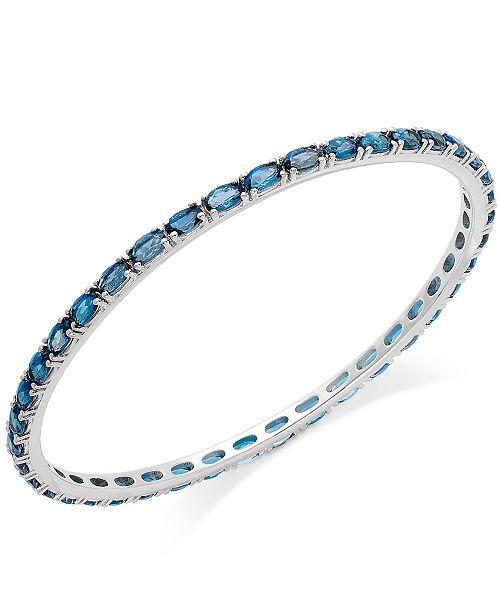Macy's Blue Topaz Bangle Bracelet in Sterling Silver (9 ct. t.w.)